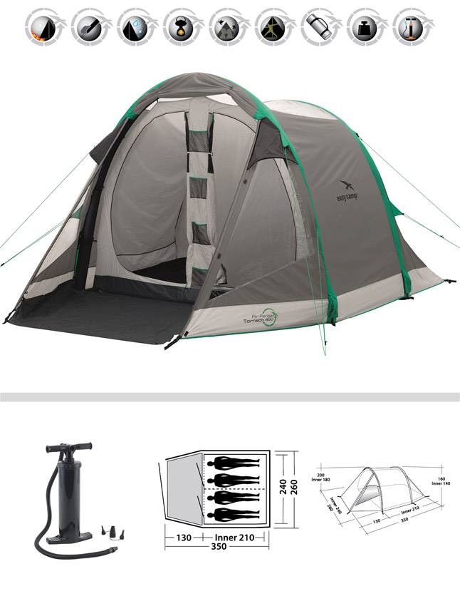 tornado 400 family 4 person tent size