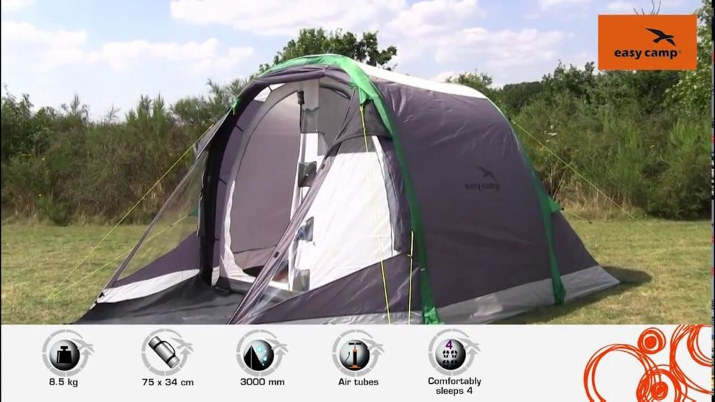 Easy camp Tornado 4 family tent outside view